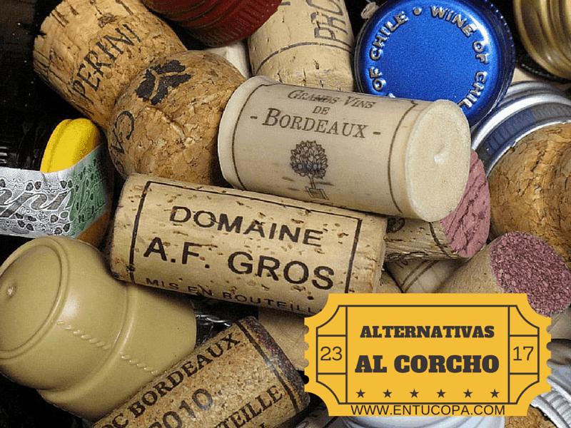 Tapones de vino alternativos al corcho