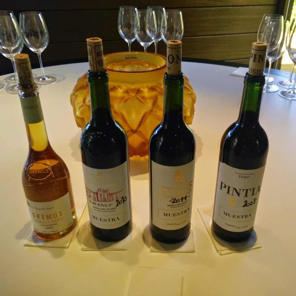 Los vinos protagonistas de la cata en Vega Sicilia
