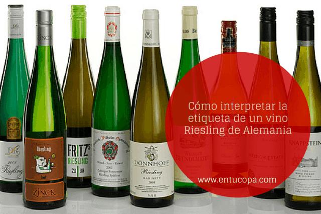 Cómo interpretar una etiqueta de vino Riesling de Alemania