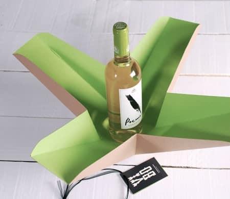Caja de regalo bicolor para vinos